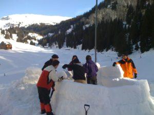 Iglubau als Teambuilding | Trekking Team AG