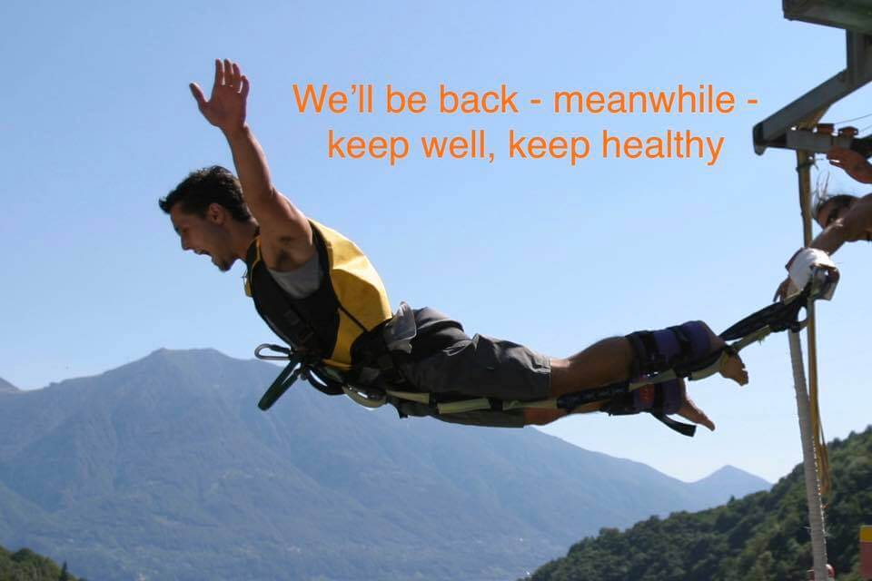 Bungy Jump closed due to Corona Virus | Trekking Team AG